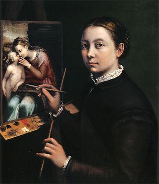 Self-portrait at the Easel Painting a De