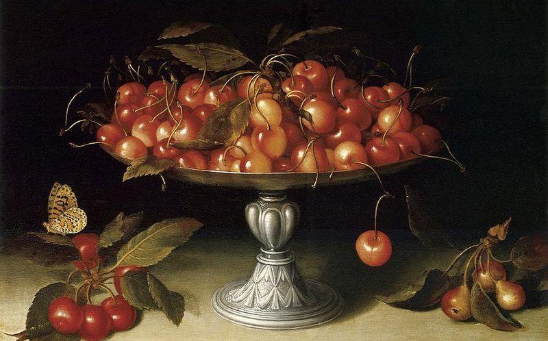Fede-Galizia-1578-1630-Cherries-in-a-sil