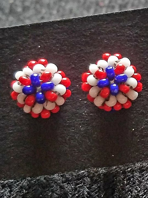 Red, white and blue studs