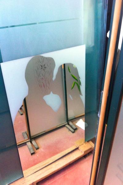 Specchio sabbiato