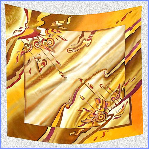 Hand painted silk shawl (SH031)