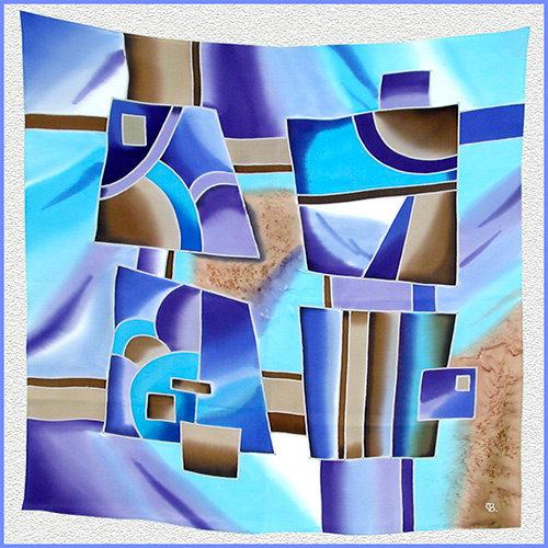Hand painted silk shawl (SH019)