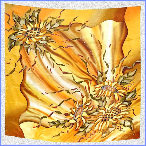 Hand painted silk shawl (SH030)