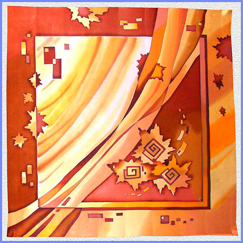Hand painted silk shawl (SH036)