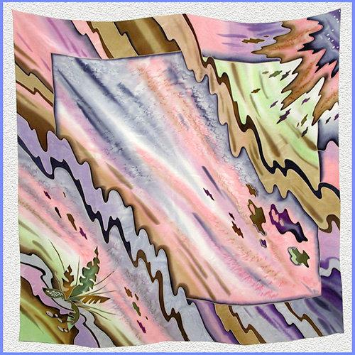 Hand painted silk shawl (SH023)