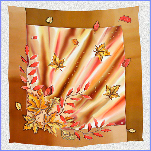 Hand painted silk shawl (SH017)