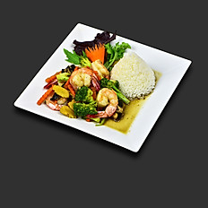 Garden stir fried Shrimps