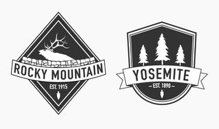 Park Badge Vectors