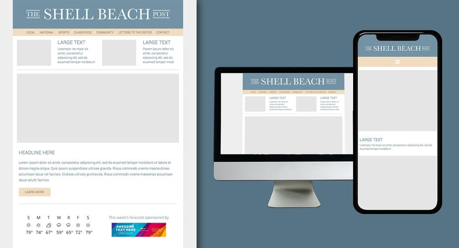 Shell Beach Post