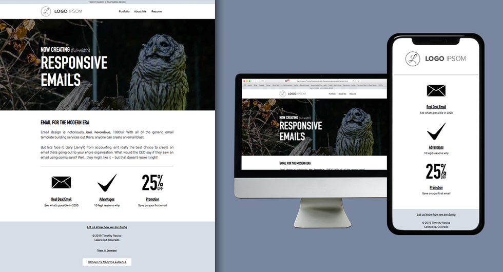 Full-width images in email?