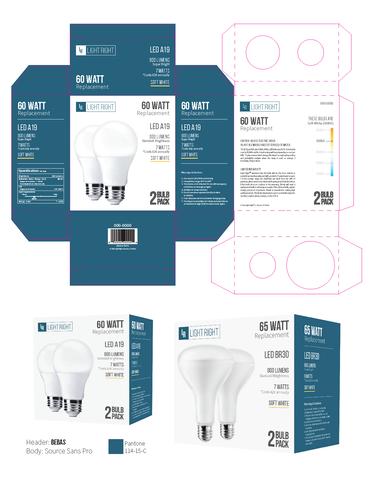Light Bulb Packaging design