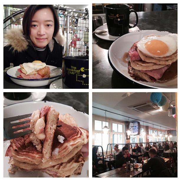 港女在英倫!獨食易肥pancake lunch @ the breakfast club