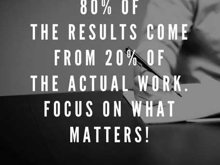 The 80-20 Rule: Better Results, Less Effort!