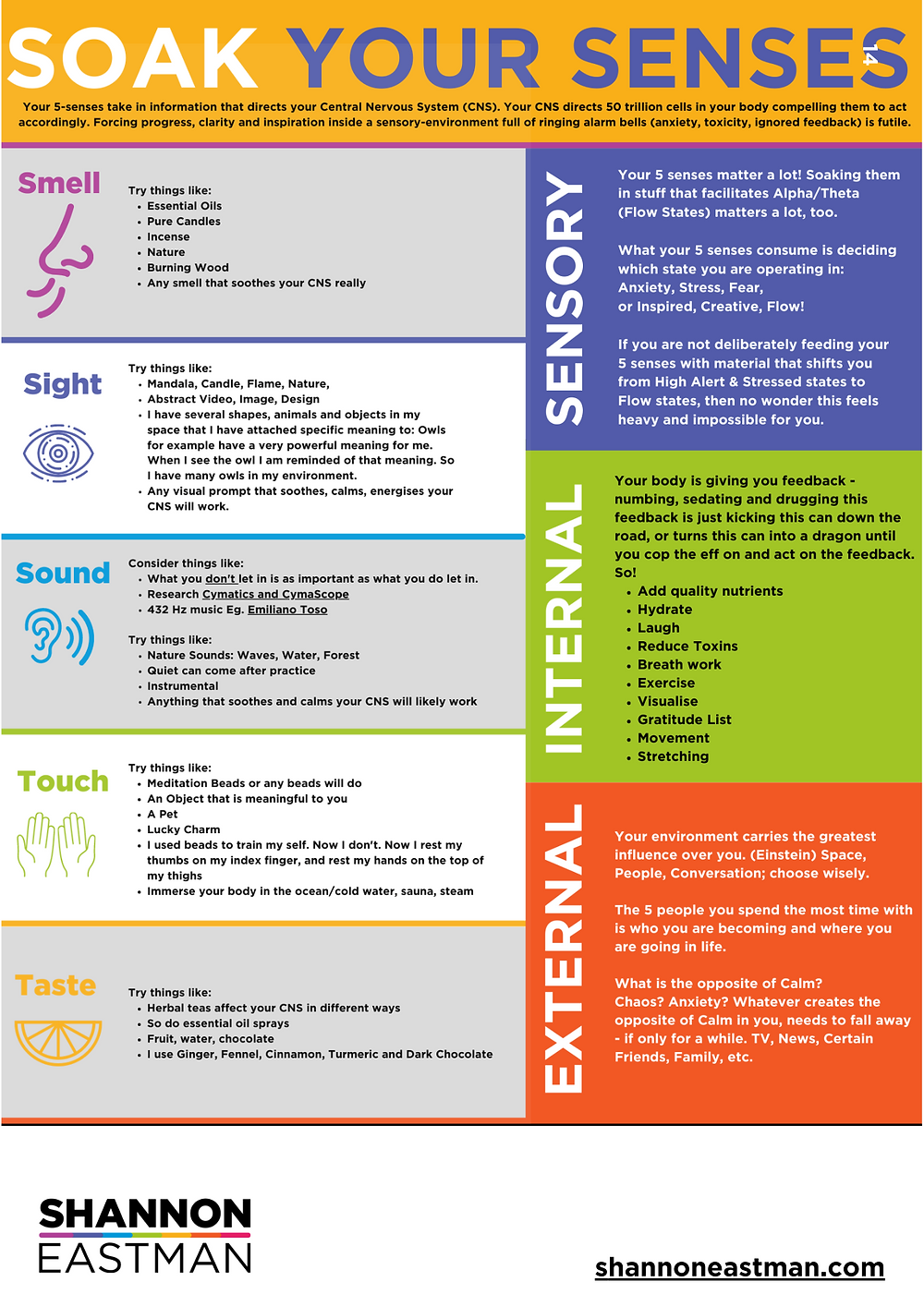 Soak Your Senses Infographic