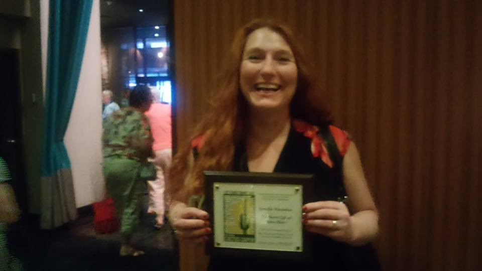 Me with my Nominee Plaque