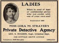 Cora Strayer, Real-Life Lady Detective