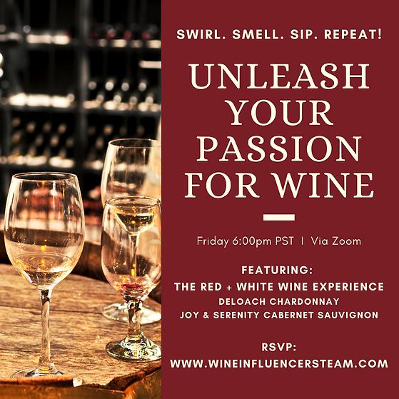 Unleash your Passion Wine Tasting Invita