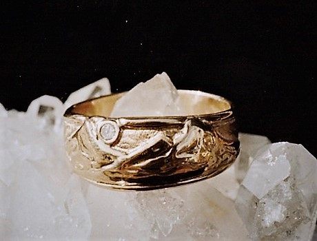 Three Sisters Ring with Diamond by Cliff