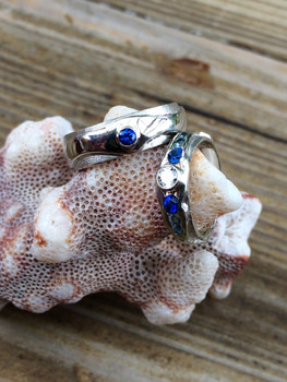 River Ring Wedding Set by Sam