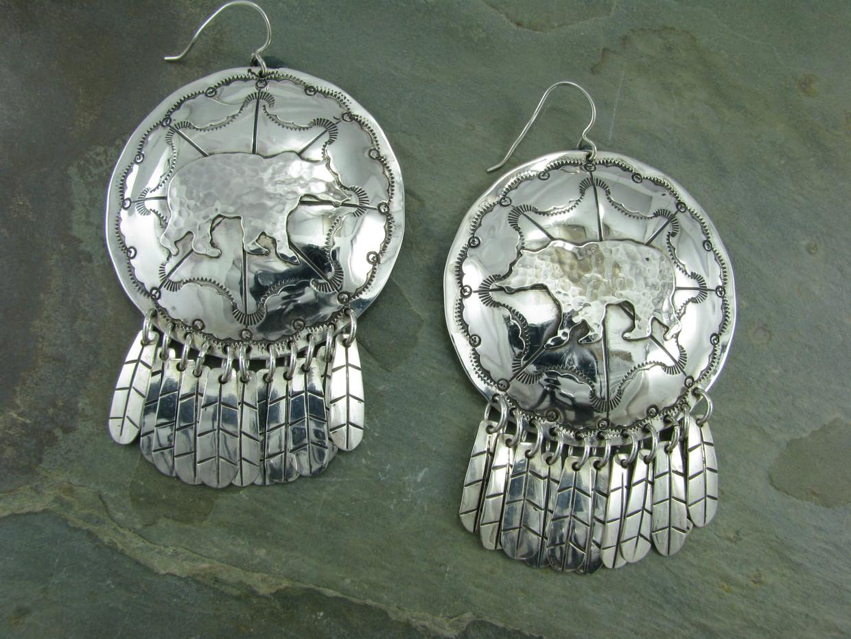 Bear Sheild Earrings by Cliff