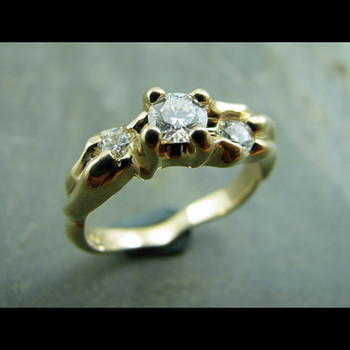 Thre Stone Diamond Ring by Cliff