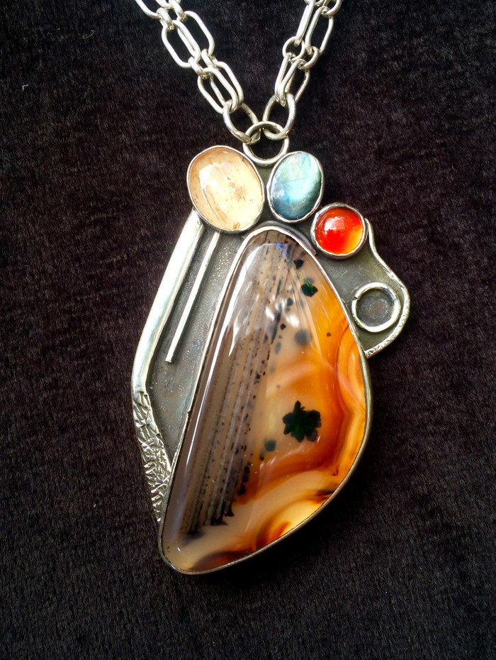 Montana Agate Necklace by Sam