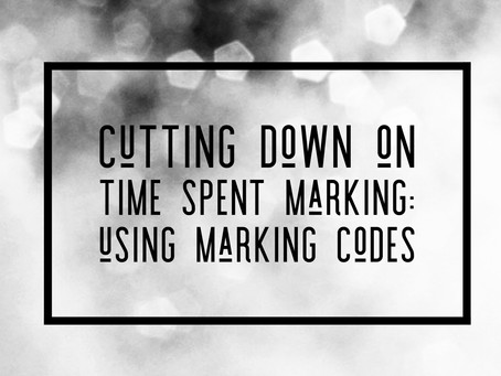 Cutting down time spent on marking by using codes