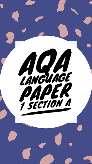 AQA Language Paper 1 Section A Full SoW