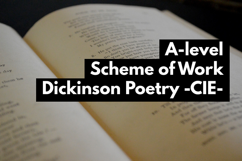 Emily Dickinson Selected Poetry: CIE International A-Level