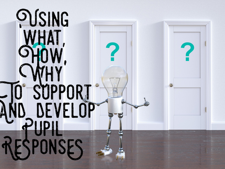 Using 'what, how, why' to develop and support pupil responses