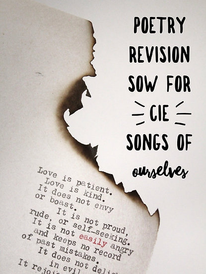 Poetry Revision SoW for CIE 0475/0992