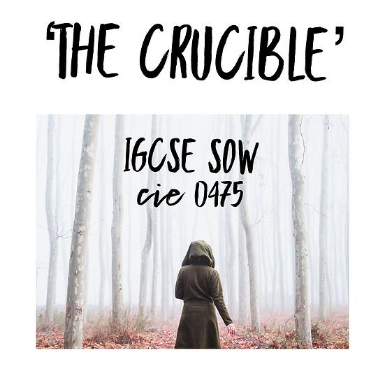 'The Crucible' IGCSE full SoW