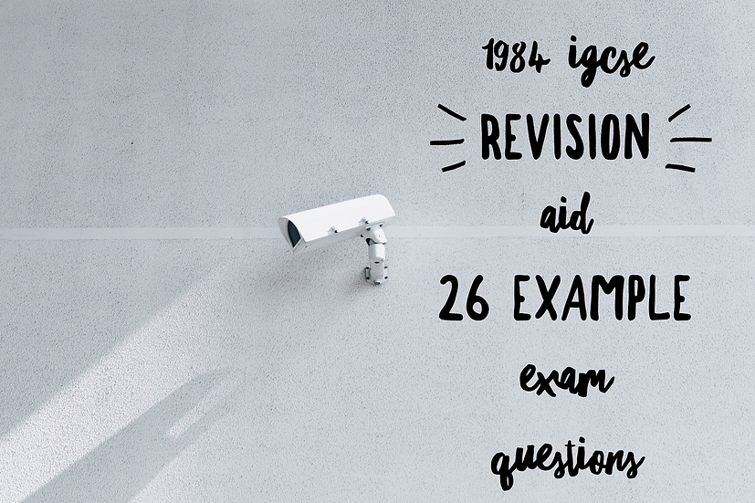 IGCSE '1984' - Example Exam Questions Pack for CIE 0475/0992