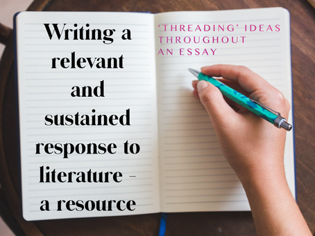 Writing a relevant and sustained response to a literature text