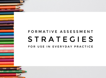 Formative Assessment Strategies for Use in Everyday Practice