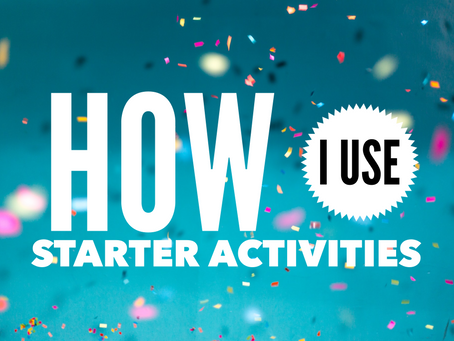 Why I've changed how I use starters…