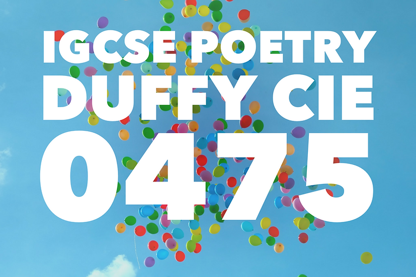 Duffy Poetry IGCSE Full SoW