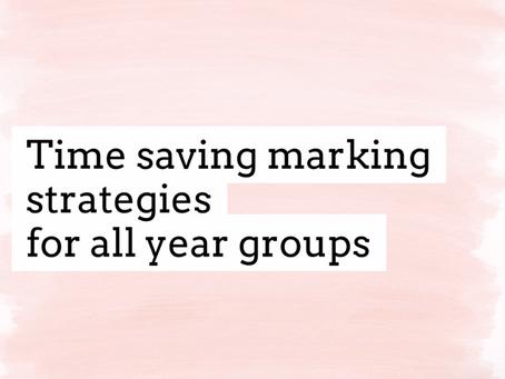 Effective, time reducing marking strategies