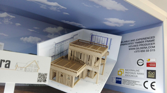 Production of 3D advertising stands