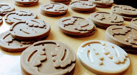 Production of wooden 3D souvenirs