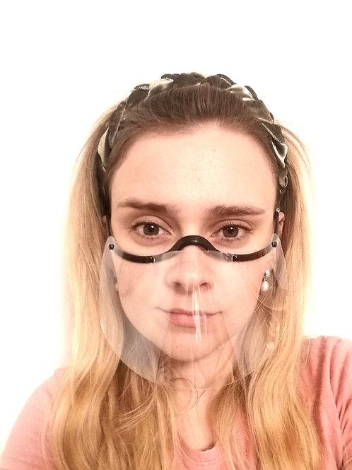 Veido skydeliai dengiantys burną ir nosį