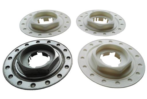 Manufacture of plastic rim covers