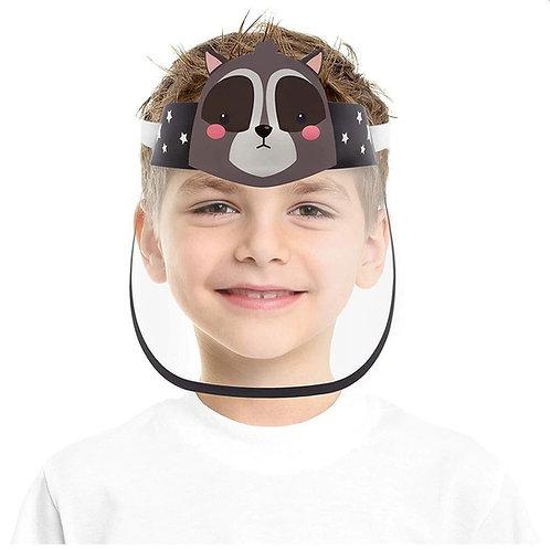 Vaikiški apsauginiai veido skydai su guma