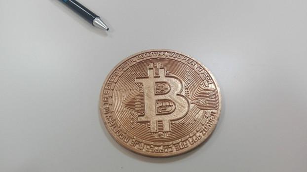 Bitcoin 3D suvenyras