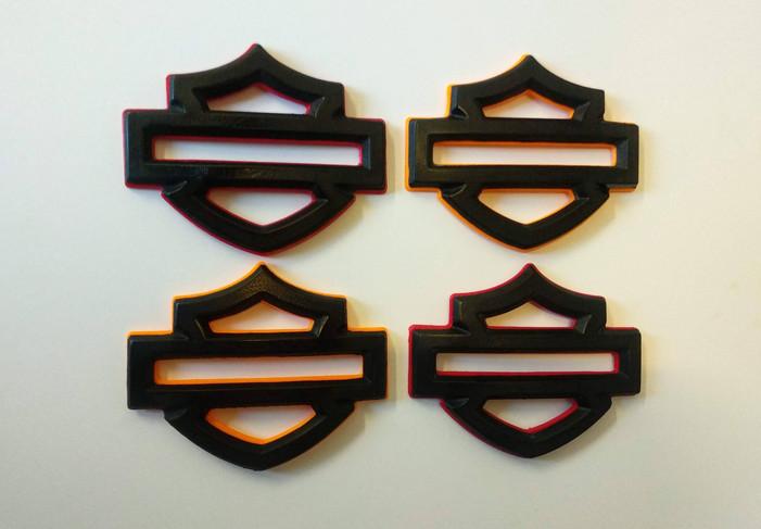 Harley Davidson badges, emblems 3D