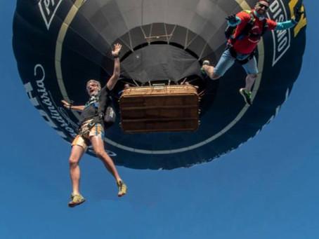 Salto de un globo aerostático