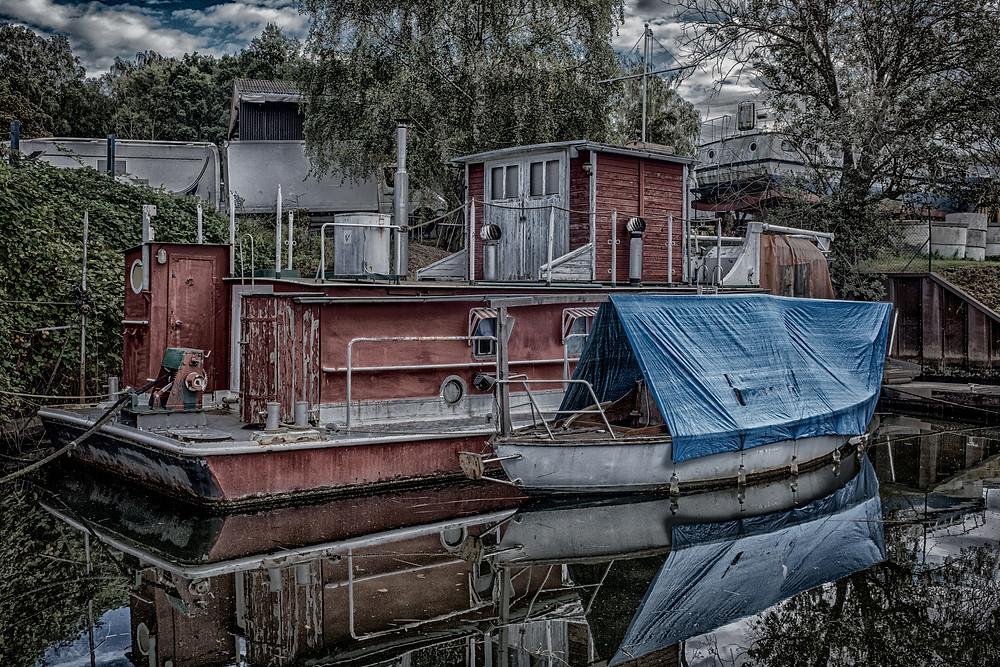 Hausboot in Lübeck