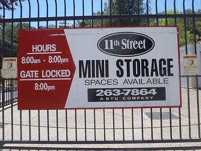 11th street Self storage units Lakeport mini storage units,