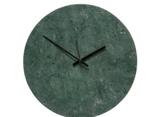 Horloge marbre vert et noir