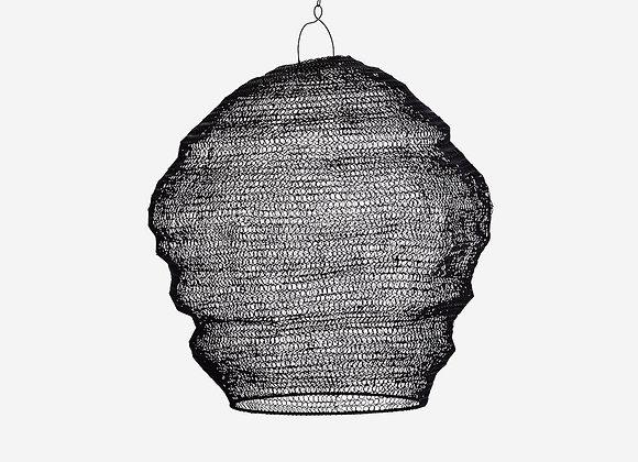 Abat-jour tricoté noir